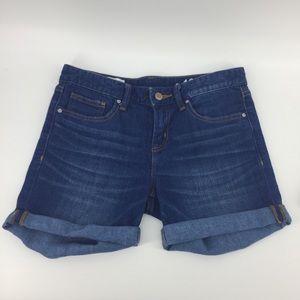 Gap Jean Shorts 26 2 Real Straight Denim Roll Cuff